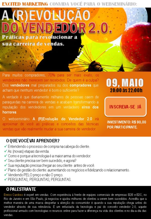 Convite para o webseminário A (R)Evolução do Vendedor 2.0.