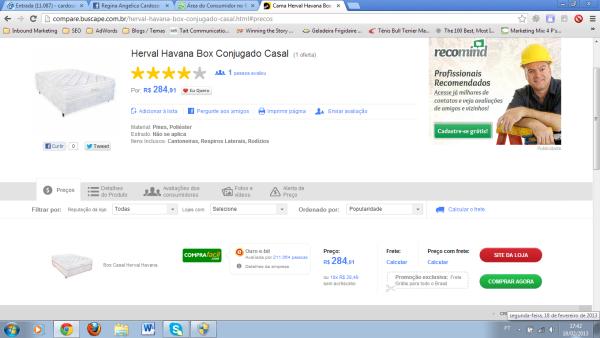 Compra Fácil: anuncia um produto no Buscapé e vende outro.